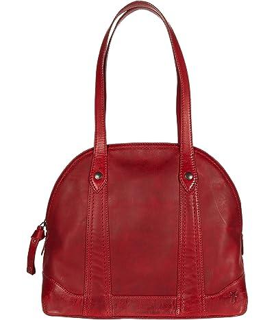 Frye Melissa Domed Zip Satchel (Red) Handbags