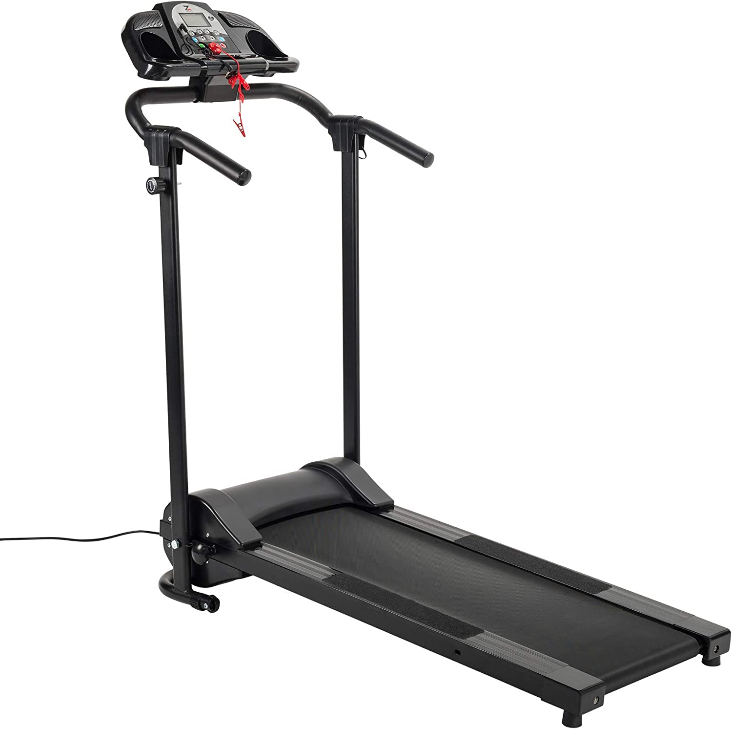 ZELUS Folding Treadmill for Home Elec Limited price 750W Wheels Portable Gym Topics on TV