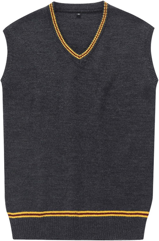 Unisex Costume Fresno Mall Sweater Vest Fall Waistcoat and Cardigan Winter C Import