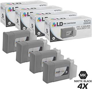 LD Compatible Ink Cartridge Replacement for Canon PFI-106MBK 6620B001AA (Matte Black, 4-Pack)