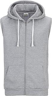 Mens Sleeveless Zip Up Hooded Sweatshirt Tank Top Hoodie
