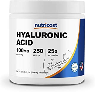 Nutricost Hyaluronic Acid Powder 25 Grams, High Quality, Non-GMO and Gluten Free