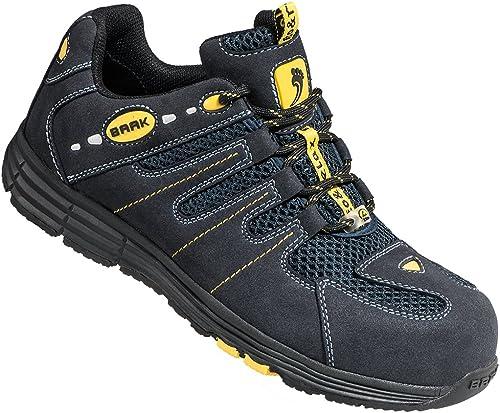 BAAK Chaussures de sécurité en 20345S1P, 20345S1P, rick271462microfibre & Mesh, Noir Jaune  marque de luxe