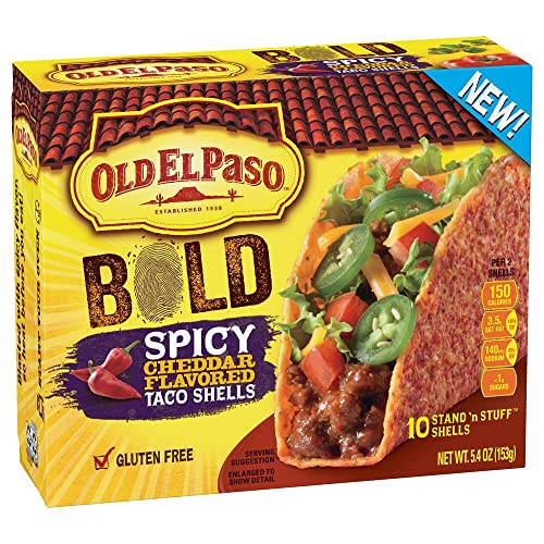 Old El Paso Gluten Free Stand n Stuff Bold Spicy Cheddar Flavored Taco Shells 5.4