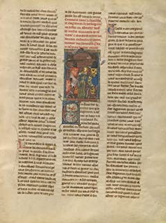 Manuscripts Poster - Tristan Freeing a Demoiselle from Brehus sans Piti?, 24