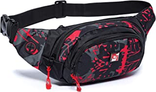 HAWXUNG Waist Pack Bag Fanny Pack for Men and Women Water Resistant Hip Bum Bag with Large Capacity Adjustable Strap for Outdoors Workout Traveling Casual Running Hiking Cycling Dog Walking Fishing