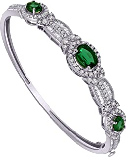 emerald cut diamond bangle