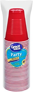 Great Value 9 Oz Plastic Party Cup (40 ct)