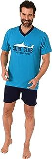 Casual Men's Short Sleeve Pyjamas Shorty Pyjamas with Front Print - 112 105 10 716