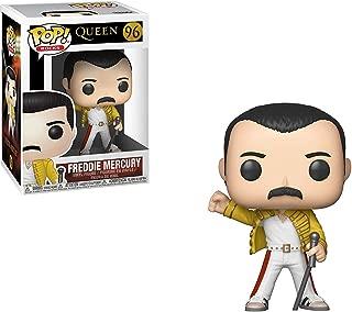 Funko Freddie Mercury [Wembley Stadium 1986]: Queen x POP! Rocks Vinyl Figure & 1 POP! Compatible PET Plastic Graphical Protector Bundle [#096 / 33732 - B]