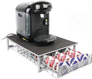 Maison & White 60 Porte Café Capsules Tassimo Nespresso Distributeur Présentoir Café Accessoires pour Machine à café Dolce...