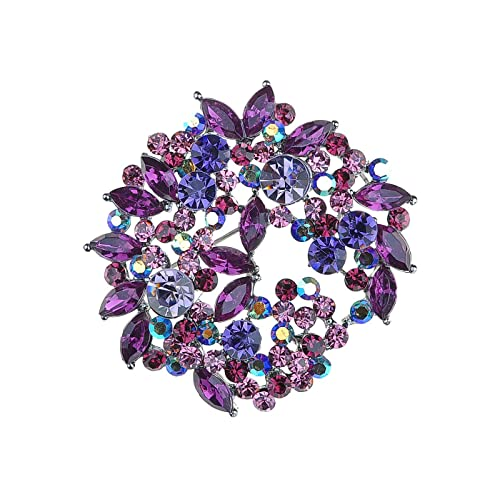 Purple Brooch Crystal Pins and Brooches Very Nice Brooches