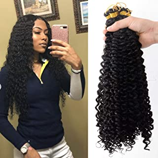 5pack water wave crochet hair 20 inch Synthetic Fiber Natural braids for Passion Twist Braiding Hair Extensions (20inch, 1B)