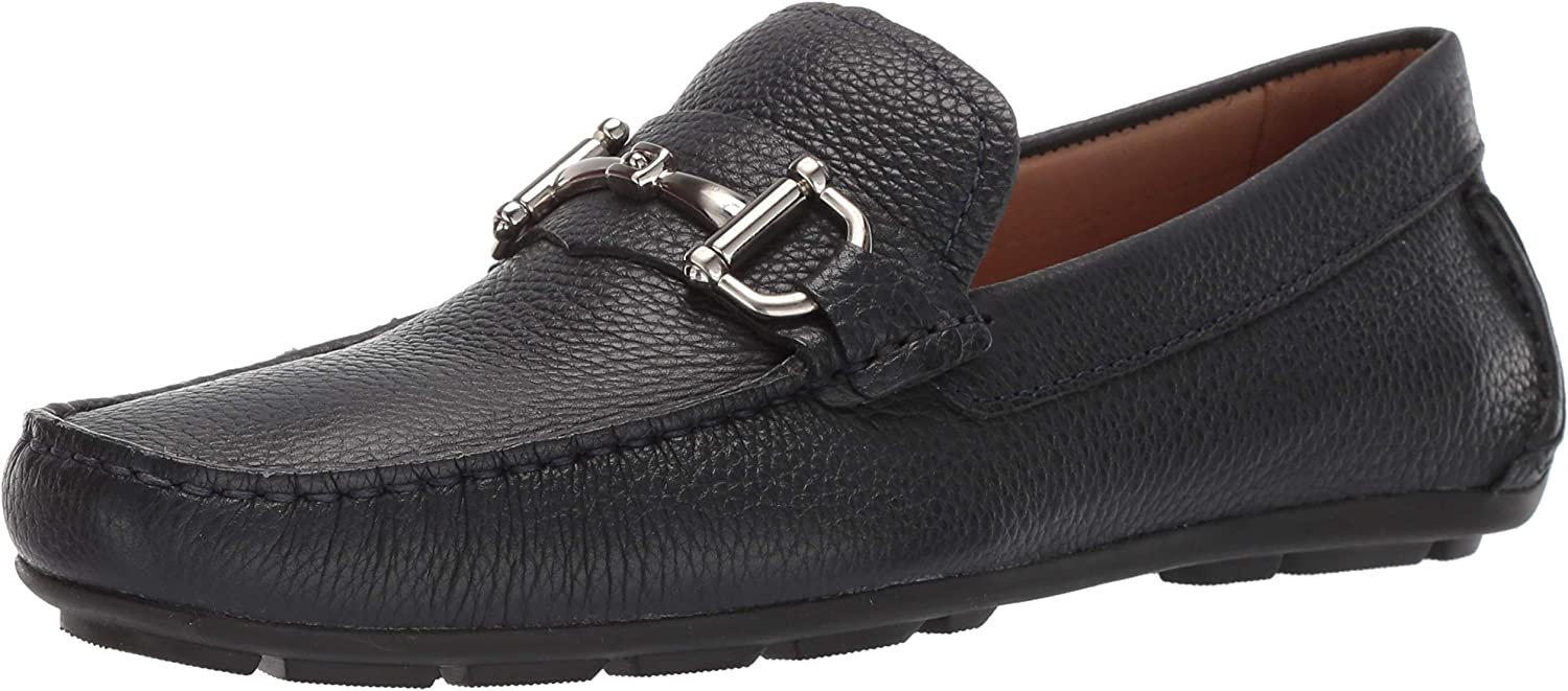 Driver Club USA Mens Mens Genuine Leather Made in Brazil Park Ave Buckle Loafer Loafer