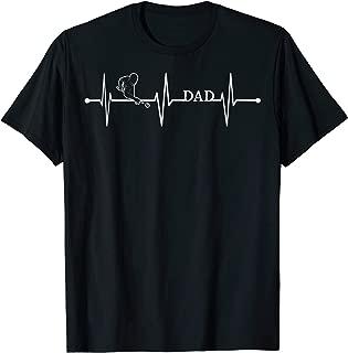 Pool Billiard Snooker Dad EKG Heartbeat Pulse Funny Gift T-Shirt