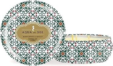 SOI Company Aqua de SOI Natural Soy Candle, Limited Edition Seasonal Scent, Triple Wick, 21 Ounces 21 Ounces White PR-COM-RT-X813864
