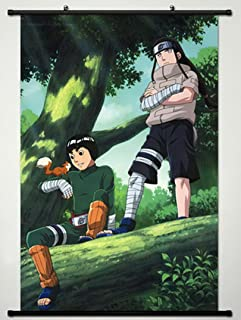 Home Decor Anime Naruto Cosplay Wall Scroll Poster Hyuuga Neji & Rock Lee 23.6 X 35.4 Inches- A426