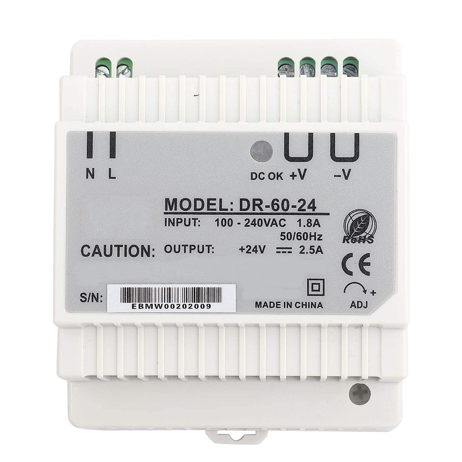 Switching Power Supply-DR-60-24 60W Single Output 24V Din-Rail Power Supply AC/DC Switching Power Supply