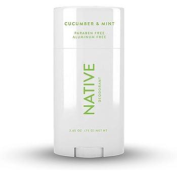 Native Deodorant - Natural Deodorant for Women and Men - Vegan, Gluten Free, Cruelty Free - Contains Probiotics - Aluminum Free & Paraben Free, Naturally Derived Ingredients - Cucumber & Mint