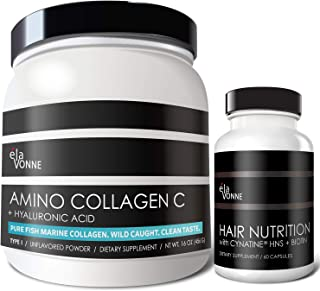 Collagen Peptides & Hair Nutrition + Cynatine HNS + Hyaluronic Acid + Biotin