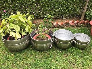 Ashlo's Iron Planters Set of 4 for Garden Indoor/Outdoor