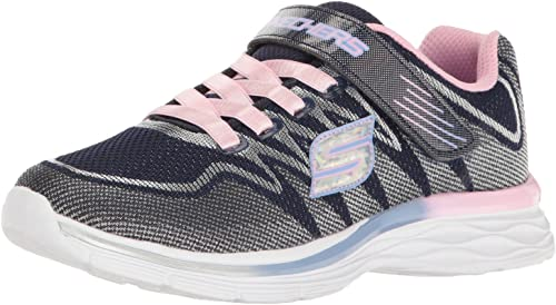 Skechers Kids Girls' Dream N'dash-Whimsy baskets, Navy rose, 12 M US Little Kid