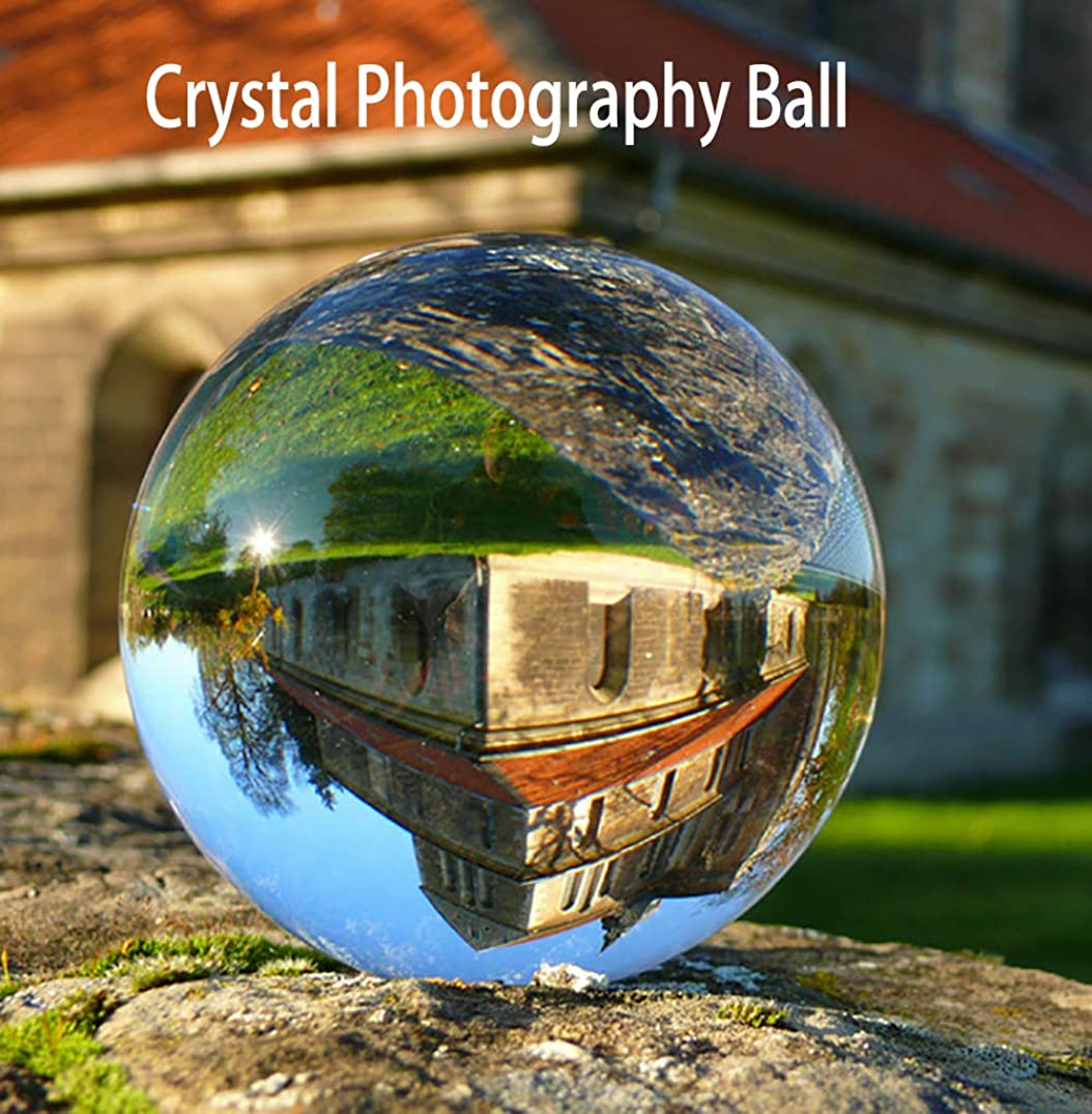 Crystal Photography Ball 80mm K9 Ball Clear Sphere Glass Photography Lens Ball