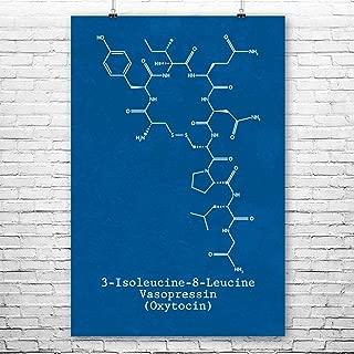 Patent Earth Oxytocin Molecule Poster Print, Love Hormone, Oxytocin Art, Biologist Gift, Professor Gift, Neurochemistry Art Blueprint (5