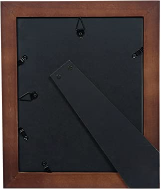 """Gallery Solutions 17FW1475 Wall Mount Double Mat Picture Frame, 5"""" x 7"""" With Mat or 8"""" x 10"""" Without Mat, Wal"""