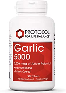 Protocol For Life Balance - Garlic 5000 - Odor Controlled with 5,000 mcg of Allicin Potential, Immune System Support, Anti...