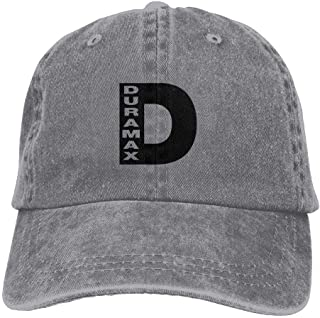 D Duramax Unisex Adjustable Cowboy Hats Vintage Cotton Denim Baseball Caps