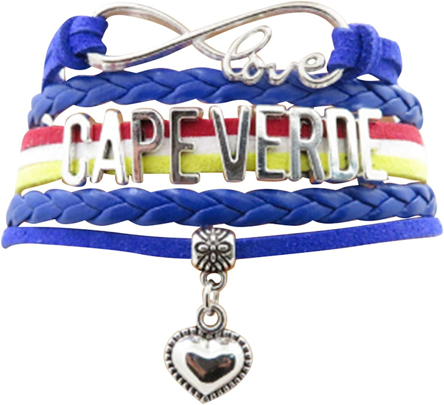 AccessCube OFFicial mail order Customized Unisex Infinity Metal Surprise price Country Flag Leather