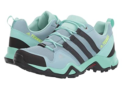 adidas Outdoor Kids Terrex AX2R CP (Little Kid/Big Kid) (Ash Grey/Carbon/Clear Mint) Girls Shoes