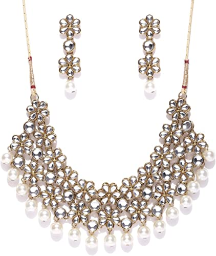 Zaveri Pearls garden Flower Necklace Set-ZPFK4300