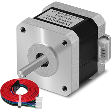 Usongshine Nema 17 Stepper Motor 42 Motor 1.5A (17HS4401) High Torque 42N.cm (60oz.in) 42BYGH 1.8 Degree 38MM 4-Lead with 1m Cable and Connector for DIY CNC 3D Printer