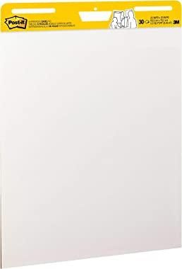 Post-it Super Sticky Easel Pad, 25 x 30 Inches, 30 Sheets/Pad, 6 Pads (559VAD6PK), Large White Premium Self Stick Flip Chart