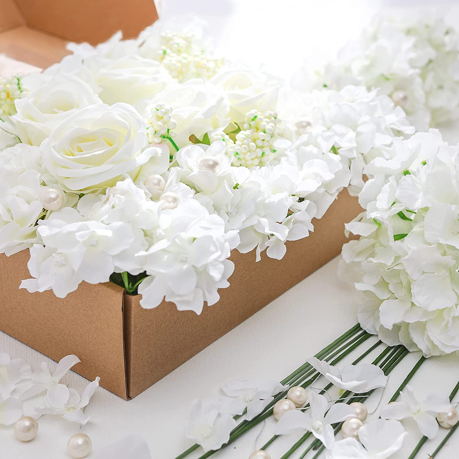25Pcs Sale Special Price Anna's Whimsy Max 49% OFF Artificial Flowers Silk Combo Ros Hydrangea
