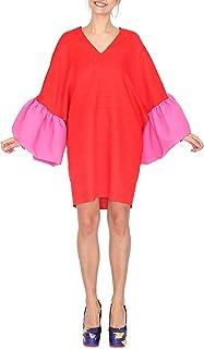 Agatha Ruiz de la Prada - Vestido Oversized en gazar de algodón con Volantes en Las Mangas
