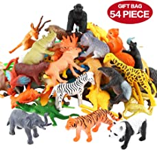 Conjunto de Juguetes Animales de Mini Selva de 54 Piezas,Favoritos de Fiesta de Animales de Mundo Zoológico para Chicos, Conjunto de Juguetes de Animales de Granja Pequeños de Bosque para los Niños