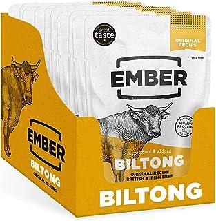 Ember Biltong - Beef Jerky Original - Proteinreicher Snack - Original 10 Stück