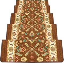 JIAJUAN Stair Carpet Treads Thick Wear Resistant Non-Slip Indoor Outdoor Self Adhesive Step Rugs, 4 Styles, 5 Sizes, Custo...