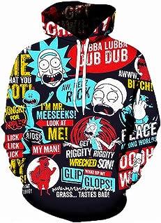 Men Funny Cartoon Cosplay 3D Print Pullover Hoodie Sweatshirt with Front Pocket