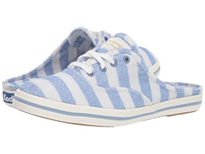 Keds x kate spade new york Moxie Mule Stripe Terry (Blue Heron/White) Women