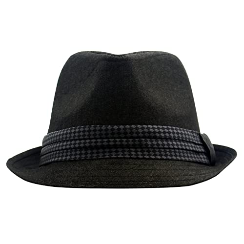 FITEXTREME Chester Mens Check Band Short Brim Trilby Dapper Classic Fedora  Hat 28d8180545f