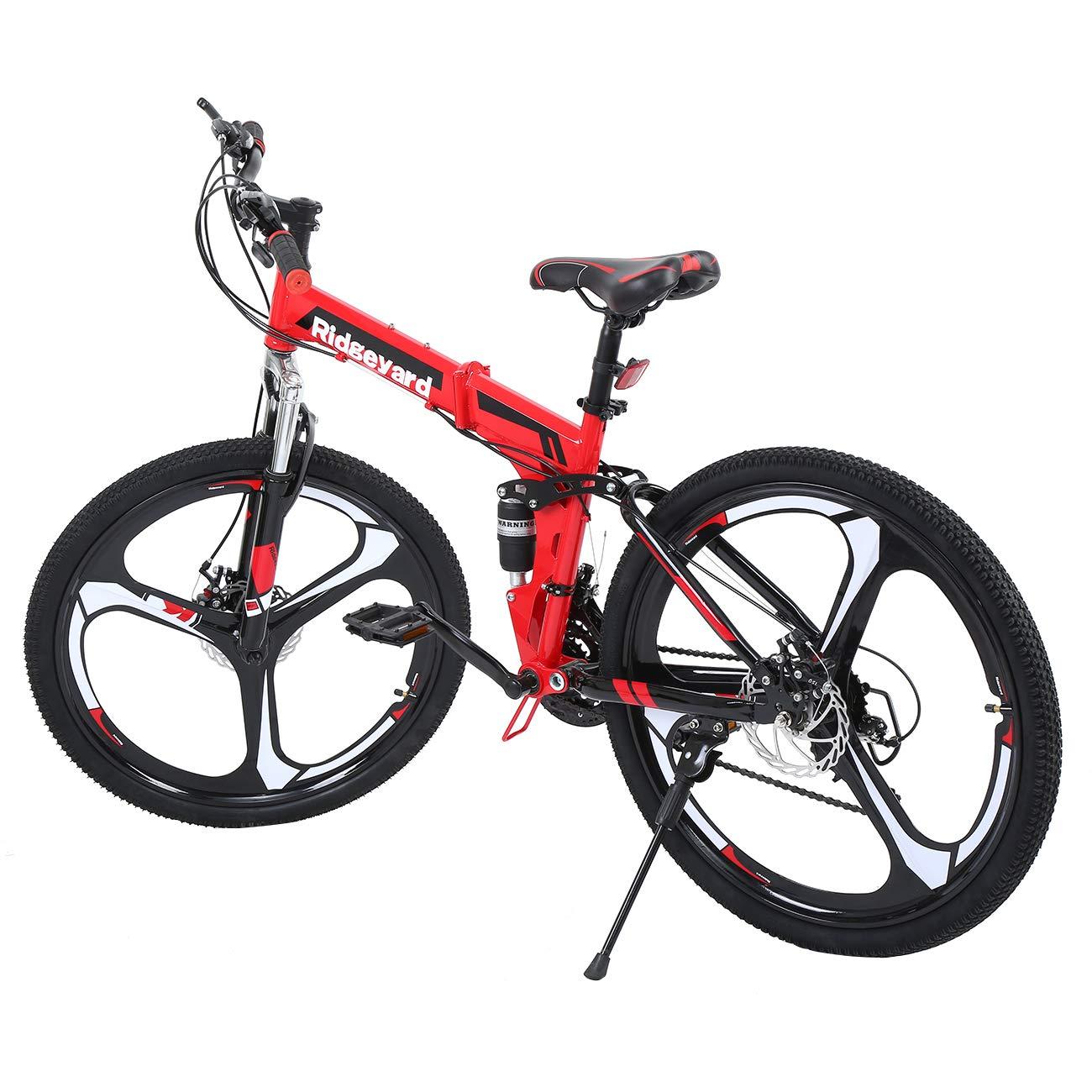MuGuang 26 Pulgadas de 21 Velocidades de Bicicleta Plegable ...
