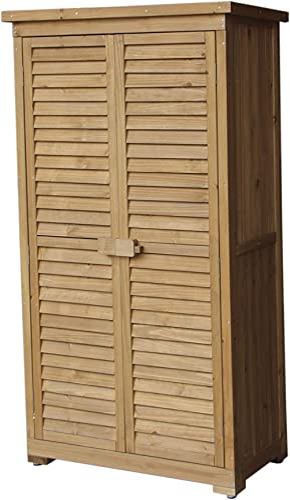 Gardiun Armoire de Rangement Jardin Emmy 87 x 46,5 x 160 cm en Bois
