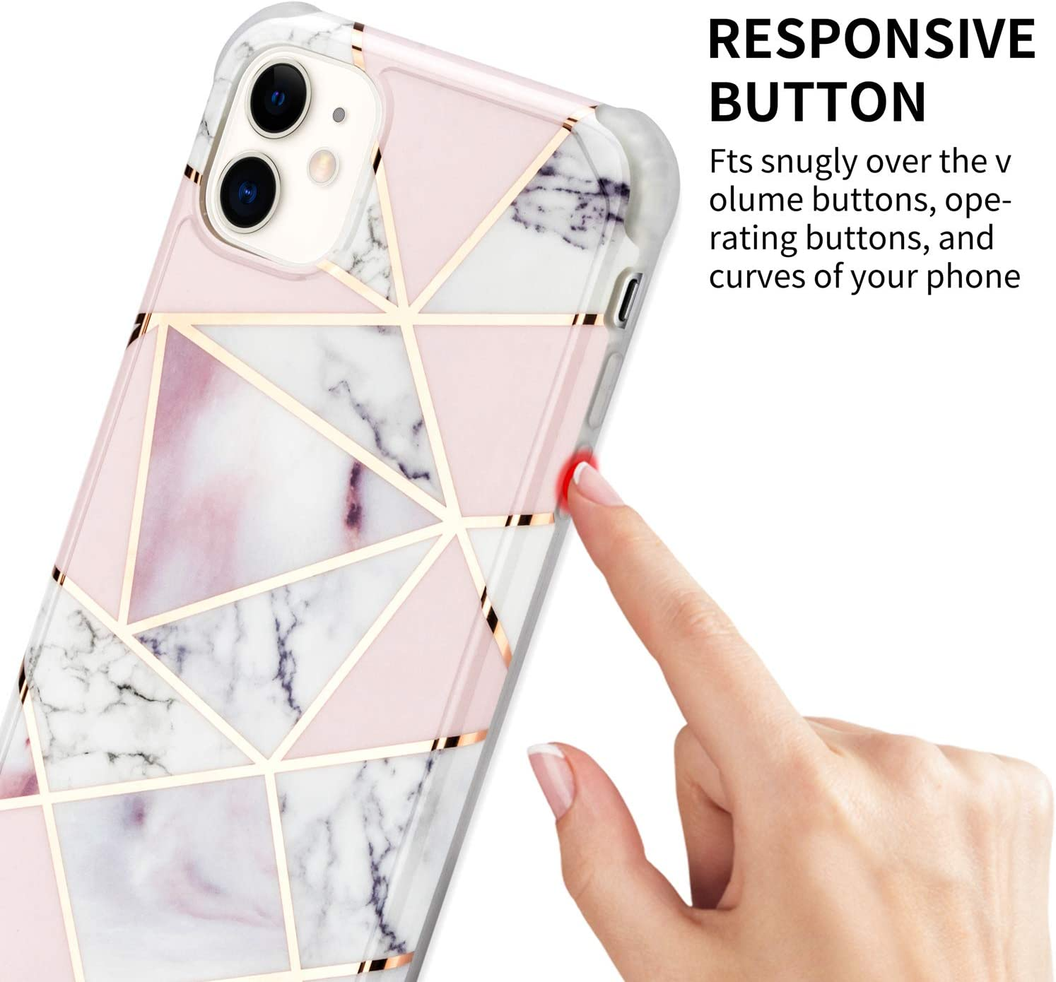 Marbre /à Paillettes avec Collier cha/îne de t/él/éphone /à lani/ère r/églable Case avec iPhone XR WeiCase Silicone Coque Compatible avec iPhone XR