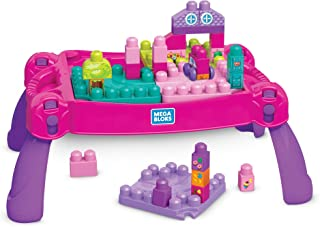 Mega Bloks FFG22 Build 'N Learn Table, Pink