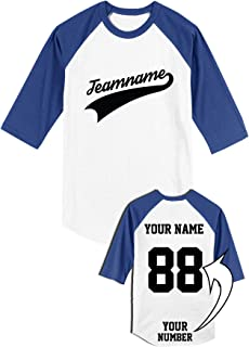 Design Your Own T-shirt 3/4 Sleeve