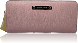 MICHAEL KORS 38H6YTTE2L Jet Set Travel Zip Around Leather Wallet in Blossom Pink